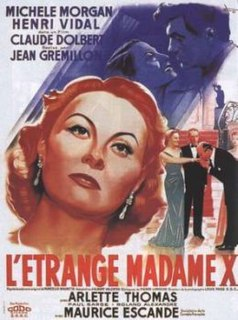 <i>The Strange Madame X</i> 1951 French film directed by Jean Grémillon