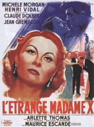 The Strange Madame X - Theatrical poster