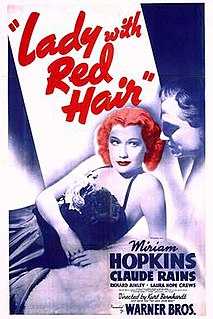 <i>Lady with Red Hair</i> 1940 film by Curtis Bernhardt