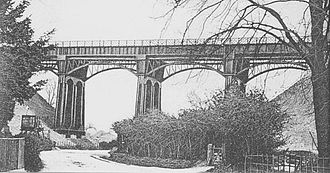 W. R. Galbraith - The West Meon Viaduct on the Meon Valley Railway
