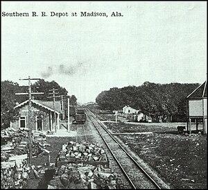 Madison, Alabama - Southern Railroad Depot, Madison, Alabama