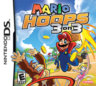 Mario Hoops 3-on-3 - North American cover art