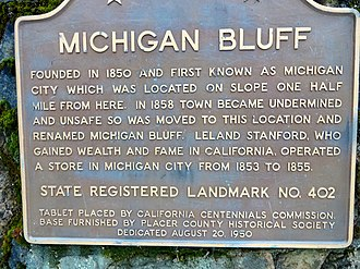 Leland Stanford - Photo of a monument in Michigan Bluff, California