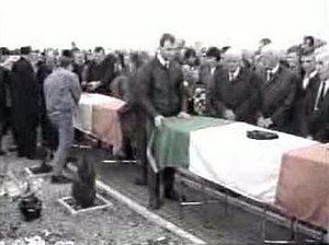 Milltown Cemetery attack - The funerals, minutes before the attack