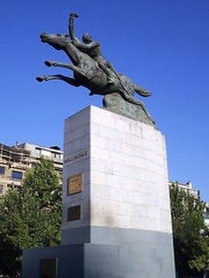 Manuel Rodríguez Erdoíza - Monument of Manuel Rodríquez displayed in Bustamante Park in Santiago, Chile