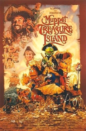 Muppet Treasure Island - Theatrical release poster by Drew Struzan