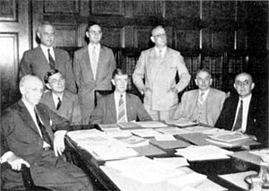 Harold G. Bowen Sr. - RADM Bowen, standing on the right, with other members of the National Defense Research Committee, July 2, 1940.