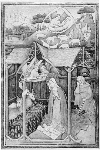 Pietro Donato - Nativity, the frontispiece by Peronet Lamy, is the only work not in the Paduan style in Pietro's Gospel lectionary