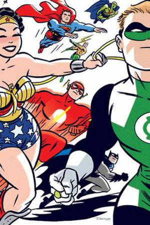 DC: The New Frontier - Front cover of Absolute DC: The New Frontier, with art by Darwyn Cooke