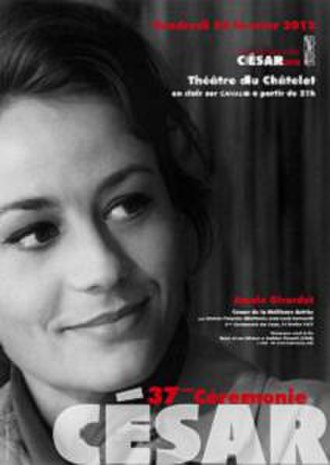 Annie Girardot - Official promotional poster of the 37th annual César Awards ceremony, featuring a photo of Annie Girardot