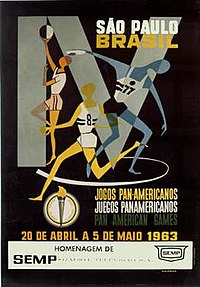 Poster of the 1963 Pan American Games