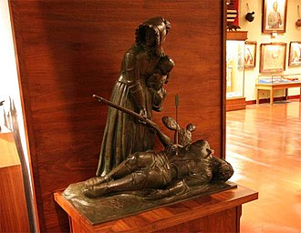 E. W. Marland - Protective by John Gregory: one of the twelve Pioneer Woman models. The models are now on display at Woolaroc Museum.