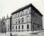 Western University of Pennsylvania's main building in downtown Pittsburgh from 1854 to 1882.