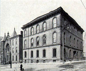 David Hunter Riddle - The construction of the 1854 main building of the Western University of Pennsylvania's occurred during Riddle's tenure