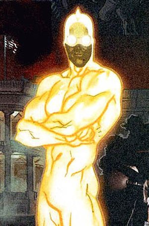 Ray (comics) - Stan Silver as the Ray. Art by Daniel Acuña.