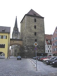 City wall tower and gate.