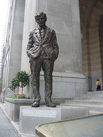 Richard Caliguiri - The commemorative statue by Robert Berks.