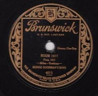 Room 1411 - 1928 Brunswick 78, 4013, by Bennie Goodman's Boys.