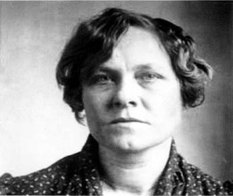 Ruth Snyder - Mugshot for her transfer to Sing Sing Prison in 1927