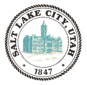 The Seal of Salt Lake City depicts the building