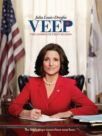 Selina Meyer - Julia Louis-Dreyfus as Selina Meyer in a DVD cover for season 1 of Veep