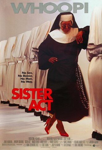 Sister Act - Theatrical release poster about sister act