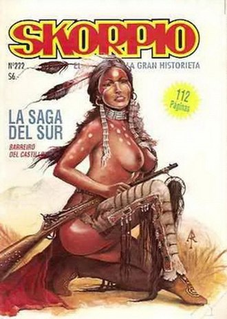 Skorpio (magazine) - Cover of Skorpio featuring La Saga del Sur by Arturo Del Castillo and Ricardo Barreiro, June 1994.