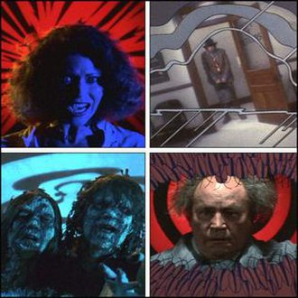 Creepshow - Several screenshots from the film, demonstrating the way comic-book imagery and effects were used extensively by director George A. Romero to recreate the feel of classic 1950s EC horror comics, such as Tales from the Crypt