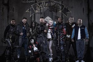Suicide Squad - The Suicide Squad in the DC Extended Universe. From left to right: Slipknot, Captain Boomerang, Enchantress, Katana, Rick Flag, Harley Quinn, Deadshot, Killer Croc, and El Diablo.