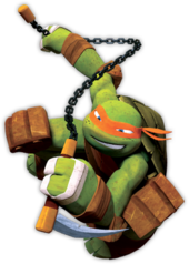 michelangelo as depicted in the nickelodeon tv series
