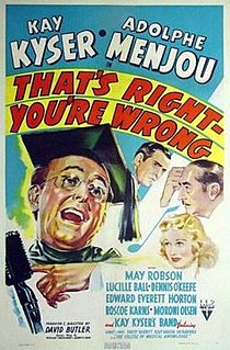 <i>Thats Right—Youre Wrong</i> 1939 film by David Butler