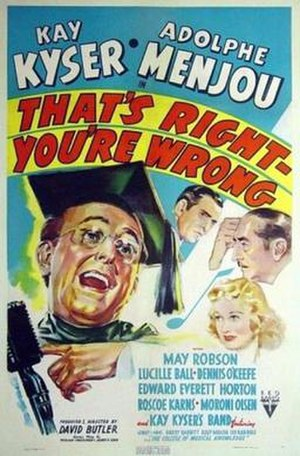 That's Right—You're Wrong - Theatrical poster