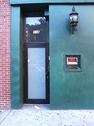 Murder of Imette St. Guillen - The Falls South side door, from which Littlejohn allegedly led St. Guillen outside to his van.