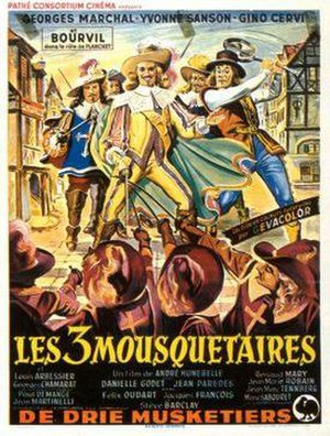 The Three Musketeers (1953 film) - Image: Three Musketeers 1953