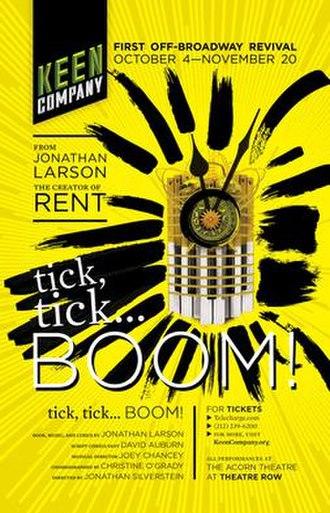 Tick, Tick... Boom! - 2016 Off-Broadway revival poster