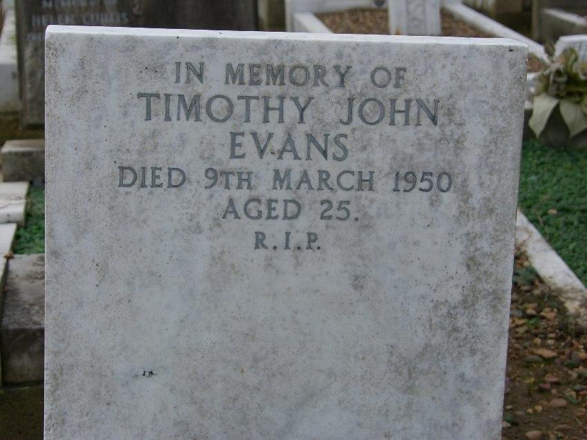 Timothy Evans Grave