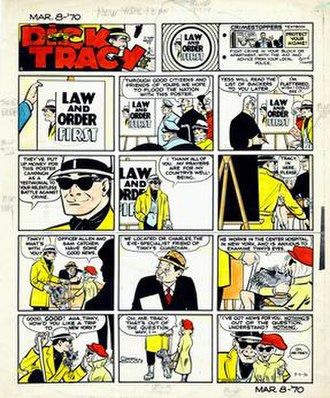 Dick Tracy - Color guide for Dick Tracy (March 8, 1970)