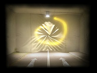 Trauma (video game) - In one dreamscape in Trauma, the player initiates a gesture, left by the lightpainting lines, to activate a drain, pulling a wall blocking the player's progress forward.