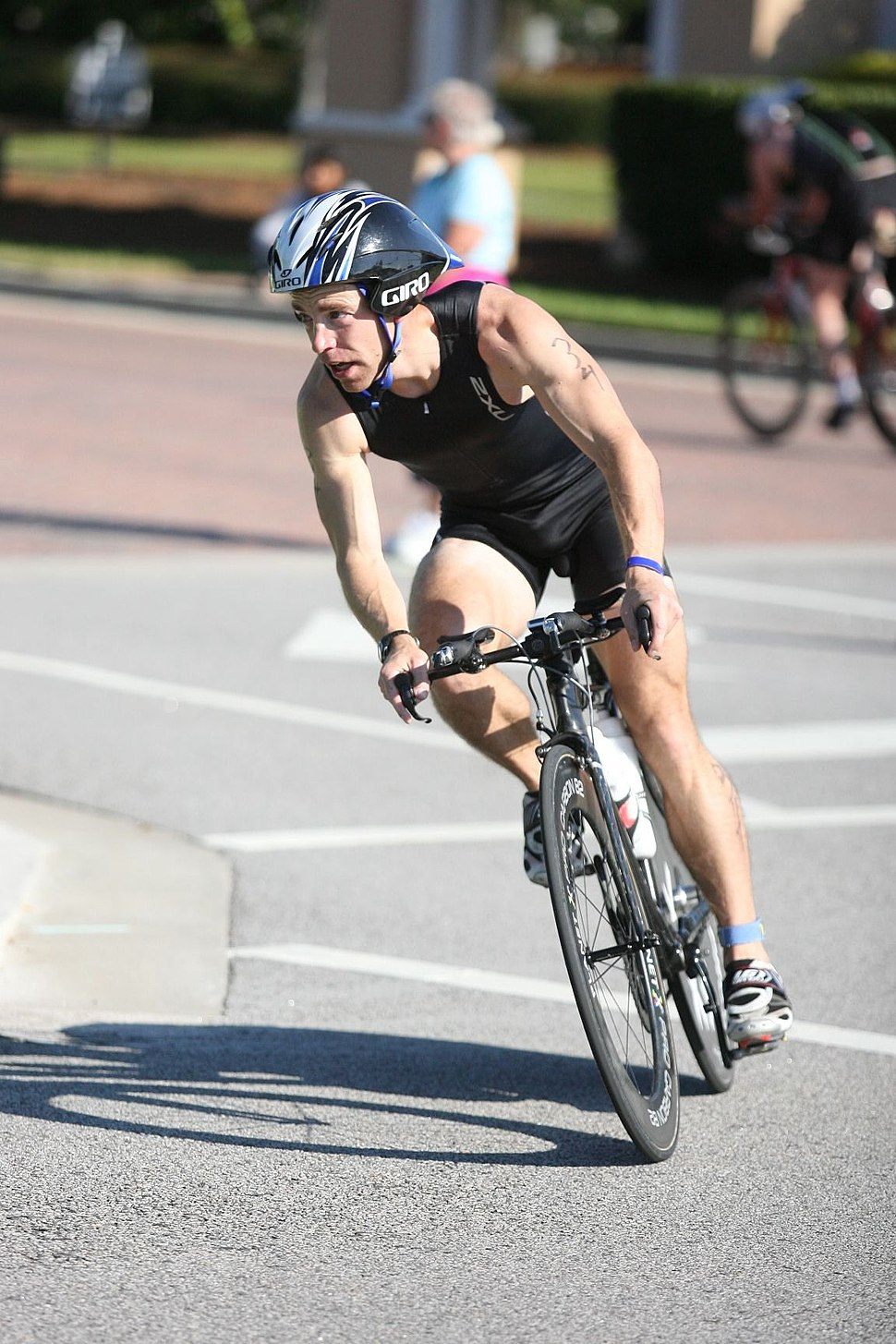 Triathlete on bike