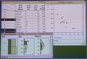JMP (statistical software) - Version 1.0 of JMP from 1989