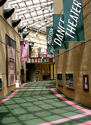 Wright State University - Lobby of the Wright State University Creative Arts Center in 2007