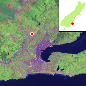 Wakari - Location of Wakari within Dunedin's main urban area