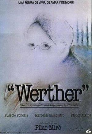 Werther (film) - Image: Werther movie poster 1986