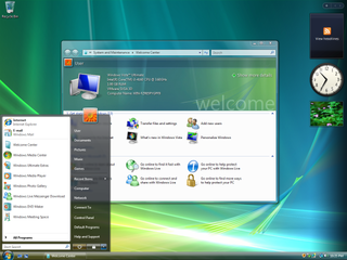 Windows Vista personal computer operating system by Microsoft released in 2006