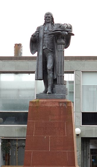 John Witherspoon - John Witherspoon Statue, Paisley, Scotland by Alexander Stoddart