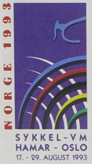 1993 UCI Road World Championships - Image: 1993 UCI Track Cycling World Championships logo