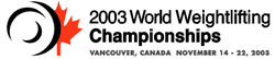 2003 World Weightlifting Championships logo.png