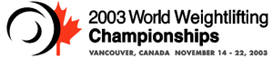 2003 World Weightlifting Championships - Image: 2003 World Weightlifting Championships logo