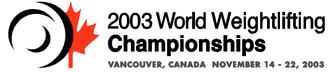 2003 World Weightlifting Championships - Image: 2003 World Weightlifting Championships logo