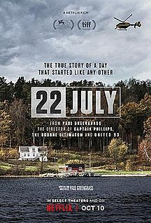 <i>22 July</i> (film) 2018 film directed by Paul Greengrass